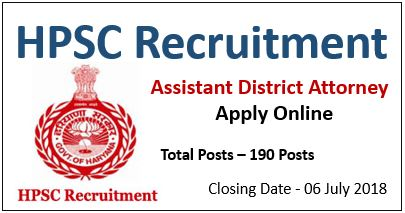 HPSC Recruitment for Assistant District Attorney | Apply Online