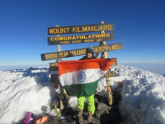 """Haryana Shivangi Pathak scales """"Mount Kilimanjaro"""" after """"Mt. Everest"""""""